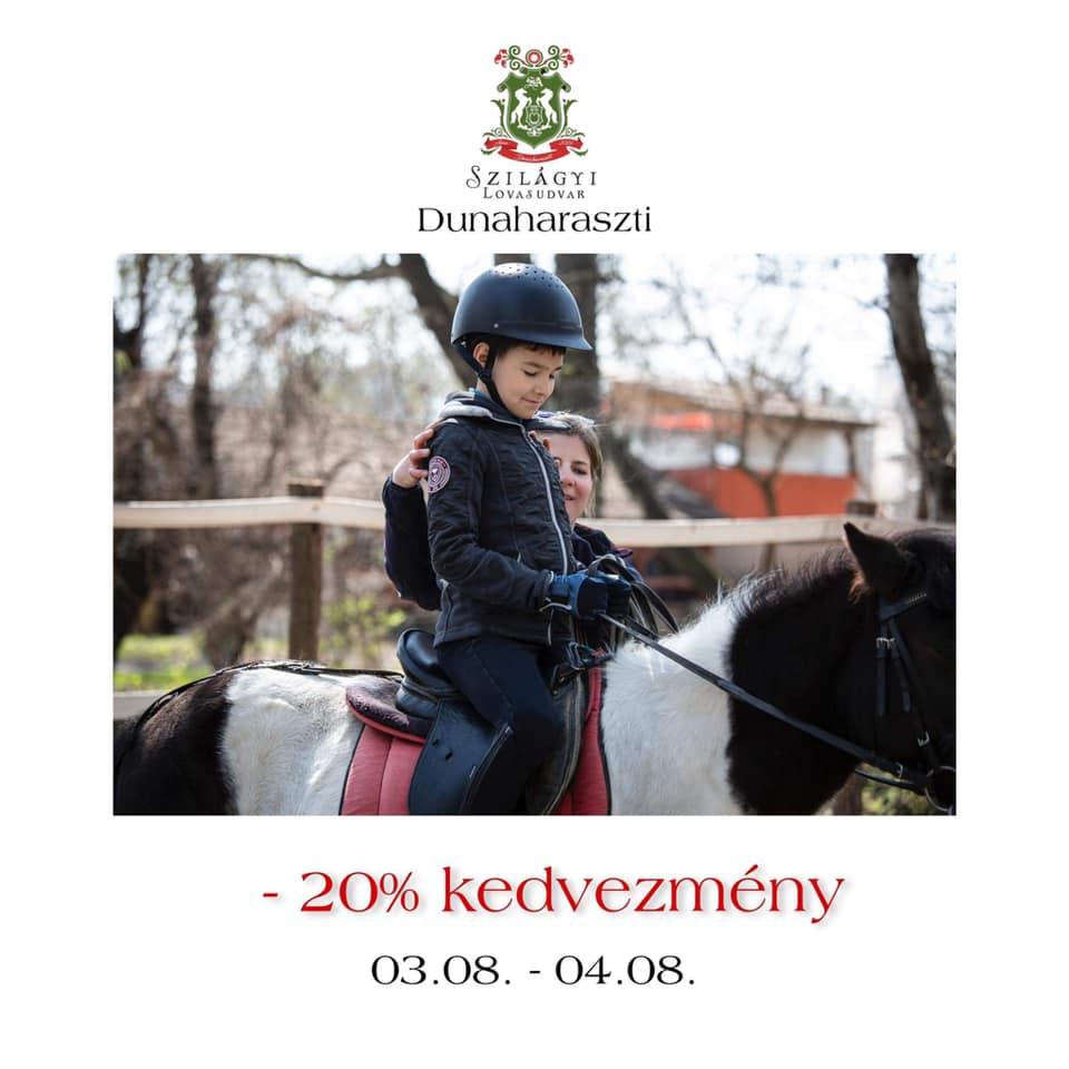 Akció 20% kedvezmény minden lovagoltatásra!